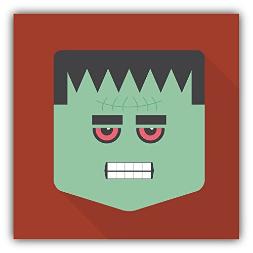 Frankenstein Head Halloween Cartoon Hochwertigen Auto-Autoaufkleber 12 x 12 - Frankenstein Halloween Cartoon