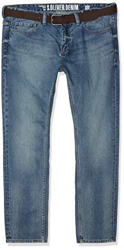 Baumwolle Relaxed Fit Jeans (s.Oliver Big Size Herren 15.902.71.5530 Straight Jeans, Blau (Blue Denim Stretch 54z4), W44 (Herstellergröße: 44/L32))