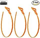 Giveet Lot de 363,5cm Extra long Serpent d'évacuation Cheveux Bouche d'évacuation Remover Outil de nettoyage pour le nettoyage des canalisations