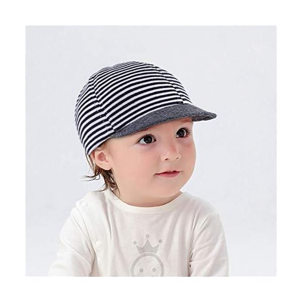 Cloud Kids - Sombrero para bebé o niña, protección contra el sol, diseño de rayas, estrellas, verano y sol 2