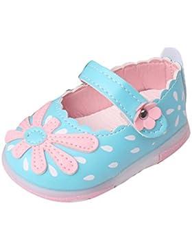 Baby Wanderschuhe,Chshe Prewalker Säugling Glühend Süß Obere Leder Sohle Gummi Anti-Rutsch Weich Mädchen Prinzessin...