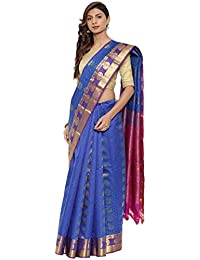CLASSICATE From the house of The Chennai Silks Traditional Silk Saree (CCMYSS10375 - Dazzling Blue)