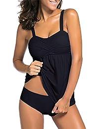 Stynice Tankini Bikini Damen Set Push Up Sportlich Badeanzug Zwei Stück Bademode Große Größen mit Gepolstert