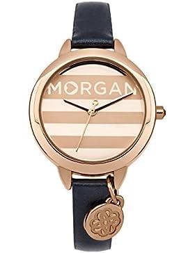 Morgan–m1237urg Damen-Armbanduhr 045J699Analog gold–Armband Leder Blau