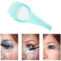 yeah67886creativa 3en 1maquillaje máscara de pestañas guía Eyelash peine maquillaje herramienta (azul)