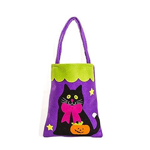 Halloween Halloween Niedlich Hexen Süßigkeiten Tasche Verpackung Kinder Party Lagerung Tasche Geschenk (C)