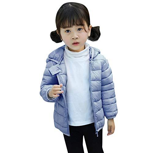 Heligen Kids Baby Winter Solide Mantel Manteljacke Wintermäntel für Kinder mit Kapuze Leichte Pufferjacke für Baby Jungen Mädchen Kleinkinder Dicke Warme Hoodie Oberbekleidung Kleidung