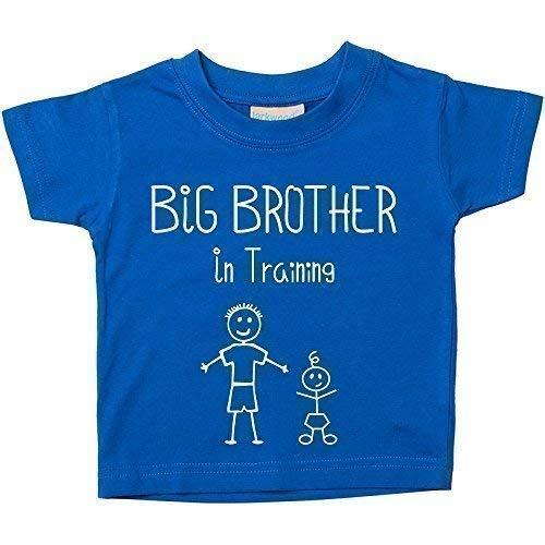 """Imagen para Camiseta azul """"Big Brother in Training"""" para regalar a niños que esperan un hermano, disponible en tallas para niños de 0 a 6 meses a 14 y 15 años azul azul Talla:24-36 Months"""