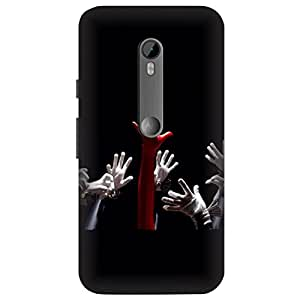 Skintice Designer Back Cover with direct 3D sublimation printing for Motorola Moto G 3rd Gen