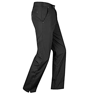 Island Green Men's All All Weather Long Trouser, Black, Size 32