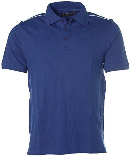 Kitaro Herren Poloshirt Polo T-Shirt Pikee Blau