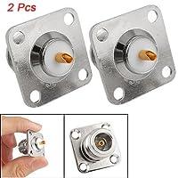 SODIAL(R) - Adattatore jack, connettore PCB N femmina, montaggio pannello 2 pz.