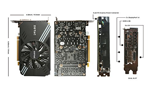 Zotac GeForce GTX 1060 mini, zt-p10600 a-10l, 6 Gb GDDR5 super Compact VR Ready Gaming scheda grafica