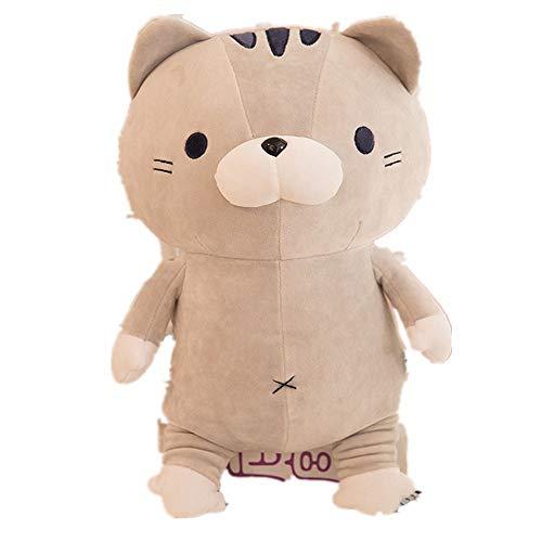 LAIBAERDAN Plüschspielzeug Extrem Weiche Baumwolle Katzenkissen Schlafende Katze Puppe Geschenk Kinderpuppe 50Cm, 50Cm