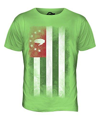 CandyMix Abchasien Verblichen Flagge Herren T Shirt Limettengrün
