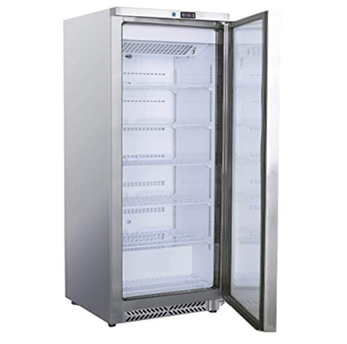 Edelstahl Tiefkühlschrank 600 Liter Kühlschrank Gefrierschrank Kühltruhe Gefrierer Edelstahlkühlschrank Gastonomietiefkühlschrank 775 x 720 x 1885 mm -18 °C bis -22 °C