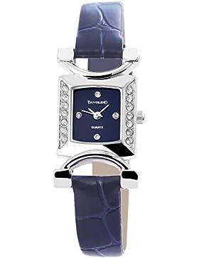 Tavolino Damen Analog Armbanduhr mit Quarzwerk 100323000198 und Metallgehäuse mit Kunstlederarmband in Blau und...