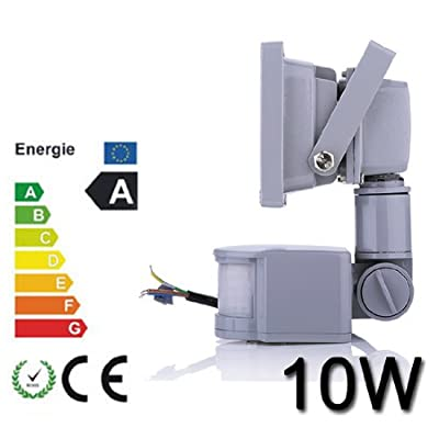 *3er Set**TOP Leistung*10W LED SMD Fluter Spot + Bewegungsmelder kaltweiß Innen-Außenstrahler Objektbeleuchtung Strahler Flutlicht wasserdicht IP65 von Himanjie bei Lampenhans.de