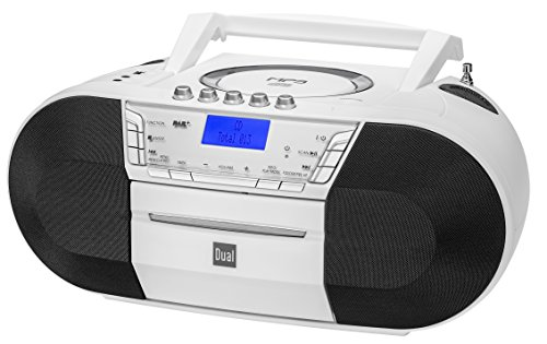 Dual DAB-P 200 Boombox mit Kassettenabspieler (CD-Player (MP3), DAB+/UKW-Radio, USB-Anschluss, Kopfhöreranschluss, AUX-IN) weiß - Boombox Mp3 Cd-radio