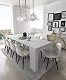 Home Innovation- Extendable console, dining modern table up to 237 cm, gloss white color. Multifunction. Rectangular with extensions. Dimensions closed: 90x50x78 cm .