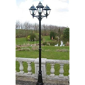 UK Gardens 7ft Victorian Garden Lamp Post Triple Head