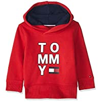 Tommy Hilfiger Boy's Multi AW Graphic Hoodie, Red, 7 Years