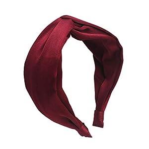 SoundJA Haarband-Stirnband Haarnadel Einfarbig Satin Haarband Bogen Stirnband Modisch Täglich Wasseraufnahme Langlebig…