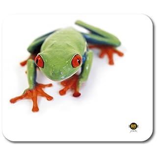 Allsop 06930 Frog Mousepad (mit Frosch-Motiv) für verbesserte Maussteuerung weiß