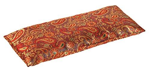 Augenkissen Seide classic, 20 x 9.5 x 2 cm Füllung: Leinsamen Bezug: 100 % Seide, Inlett: 100 % Baumwolle, rot / mango