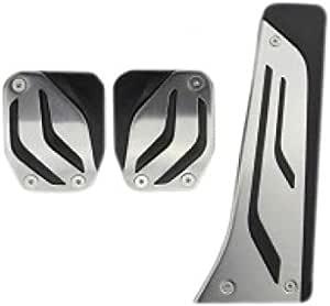 Emblem Trading Tuning Pedalgummi Edelstahl Pedale Pedal Pedalkappe Gaspedal Bremspedal Kupplung Manuel Plug Play Installation Auto