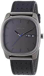 Nixon Herren-Armbanduhr XL Identity Black / Gunmetal Analog Quarz Leder A2681420-00