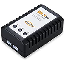 IMAXB3 - Cargador de Baterías LiPo Para Los Modelos RC ( 2-3s, 11.1V, 7.4V, Indicador LED, 110-240V Alimentación de CA, 1A Corriente de Carga, Enchufe EU) Negro