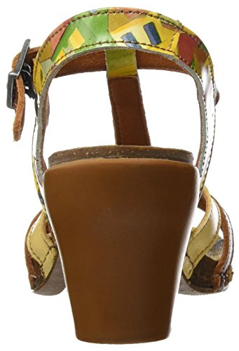 Art Ladies 0239 Fantasia Mi Sento Sandali Con Cinturini A T-wire Multicolore (città)