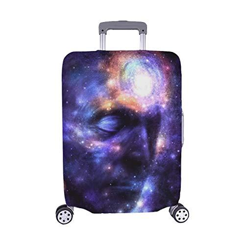 (Nur abdecken) Menschlicher Kopf Space Brain Power Meditation Galaxy Staubschutz Trolley Protector case Reisegepäck Beschützer Kofferabdeckung 28,5 X 20,5 Zoll