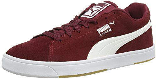 puma-suede-s-mens-low-top-trainers-red-cordovan-white-10-uk