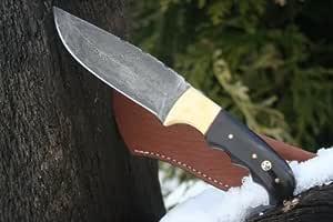Royal Trachten Handgemachtes Damast Jagdmesser Jagdmesser aus japanischem Damaststahl mit Knochengriff