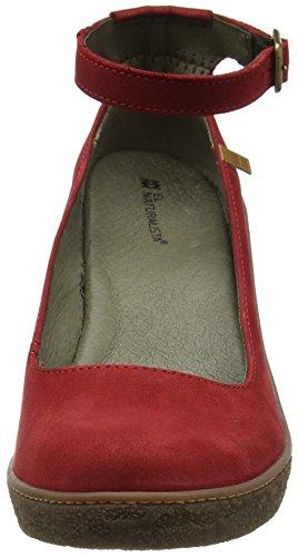 El Naturalista Damen Nf76 Pleasant Lichen Schuhe mit Knöchelriemen Rot (Tibet)