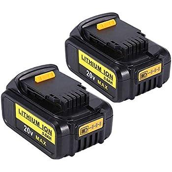 2Pack 5.0AH 20V Li-Ionen Akku für DCB185 DCB184 DCB183 DCB182 DCB181
