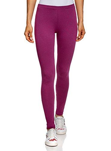 oodji Ultra Damen Leggings Basic, Violett, DE 36 / EU 38 / S