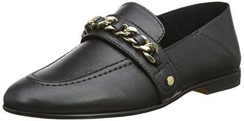 Tommy Hilfiger Damen Chain Detail Loafer Slipper, Schwarz (Black 990), 41 EU