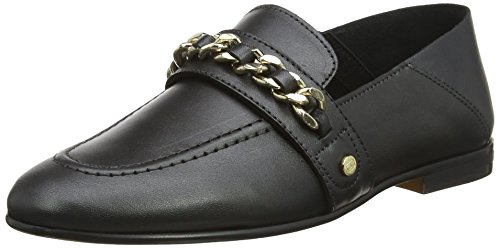 Chain Detail Loafer Slipper, Schwarz (Black 990), 38 EU ()