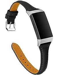 para Fitbit Charge 3,Darringls Cuero Correas Relojes Ligero Ventilar Pulsera de Reemplazo