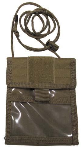 Brustbeutel mit Umhängekordel und diversen Taschen, aufklappbar, Farbe: sand Coyote Tan