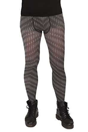 Adrian Squares tights for men, 50 den, size X-Large, grey