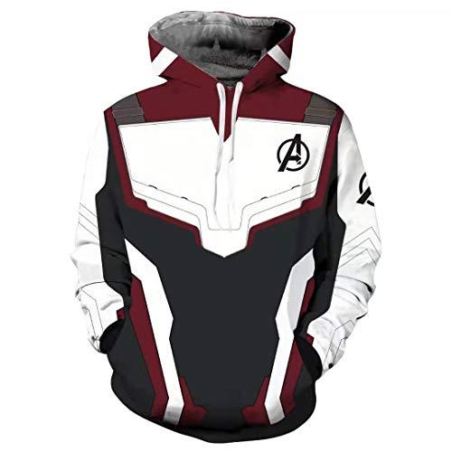 Henxizucun Unisex 3D Digitaldruck Pullover Hoodie Hooded Sweatshirt mit Taschen Cosplay Kostüm Hoodie Zipper Jacke Sweatshirt,Black,XXXL
