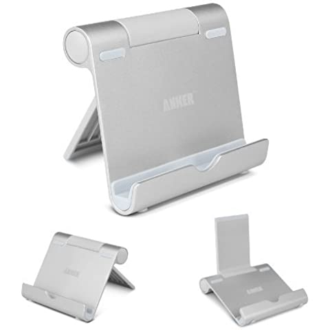 Anker Multi-Ángulo Soporte para Tablets, E-readers y Teléfonos Inteligentes: Apple iPads, iPad Mini, iPod, iPhone 5 4S 4 3GS; Samsung Galaxy Tab 2, Note 8.0 10.1, S4, S3, S2; Google Nexus 4,7,10; Asus EeePad Transformer; Sony Xperia