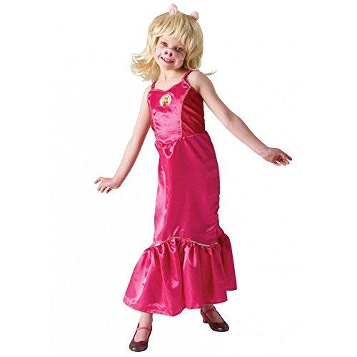 Kind Miss Kostüm Piggy - Muppet Show Miss Piggy Kostüm für Kinder Fasching Karneval Verkleidung Small Small