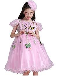 """Free Fisher Kinder Mädchen """"Prinzessin""""-Kleid mit Stickerei"""