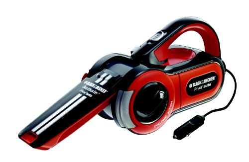 Black and Decker PAV1205-XJ - Aspiradora de coche (12 V, 11 W), color negro, naranja y blanco