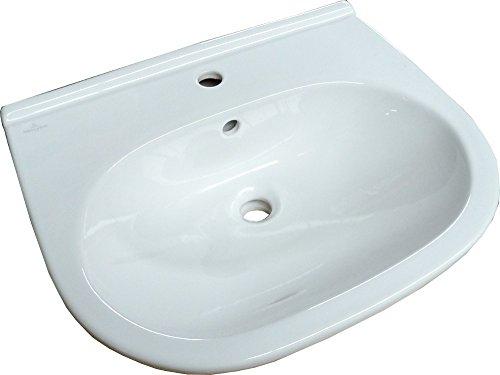 O.NOVO Waschtisch 600 x 490 mm mit Überlauf weiß